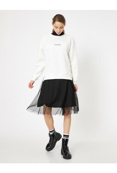 Koton Yazılı Baskılı Sweatshirt