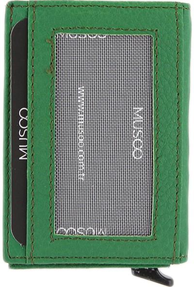 Musoo Deri Para Gözlü Mekanizmalı Kartlık Cüzdan AD-3216Y