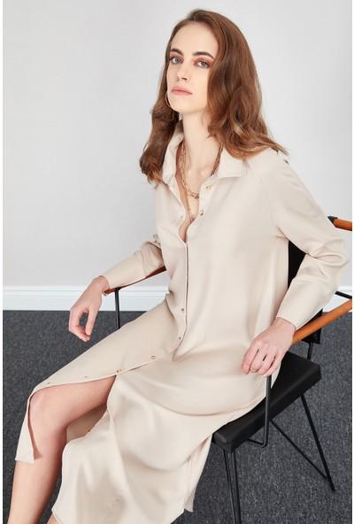 Manche 28-2345 Reglan Kol Gömlek Elbise