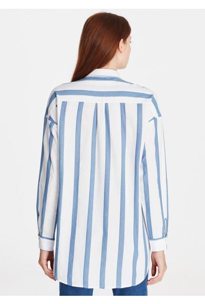 Çizgili Mavi Gömlek 122132-23097