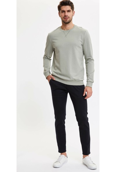 DeFacto Erkek Basic Regular Fit Sweatshirt