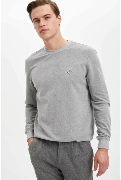 DeFacto Erkek Basic Sweatshirt