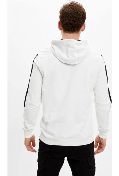 DeFacto Erkek Kapüşonlu Regular Fit Sweatshirt