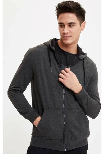 DeFacto Slim Fit Kapüşonlu Fermuarlı Sweatshirt N5325AZ20SP