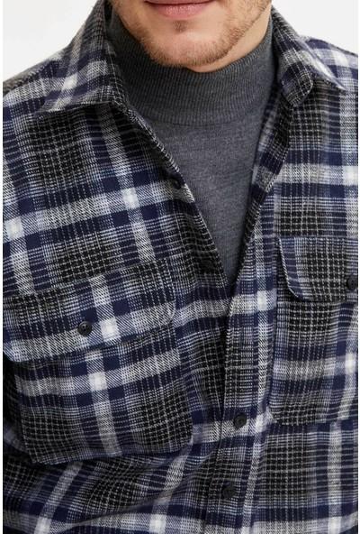 DeFacto Erkek Çift Cepli Oduncu Gömlek