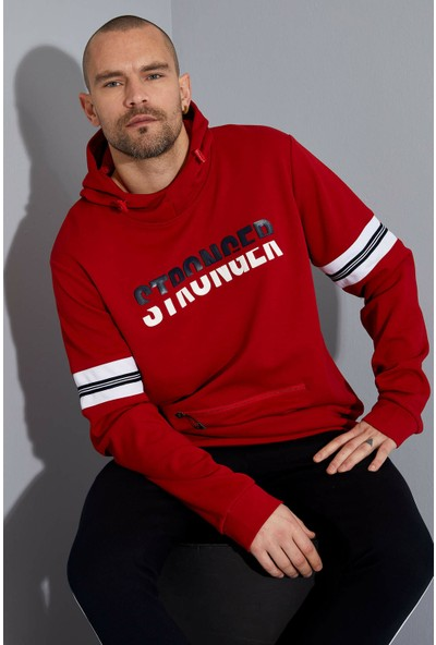 DeFacto Kapüşonlu Extra Slim Fit Spor Sweatshirt N9406AZ20SP