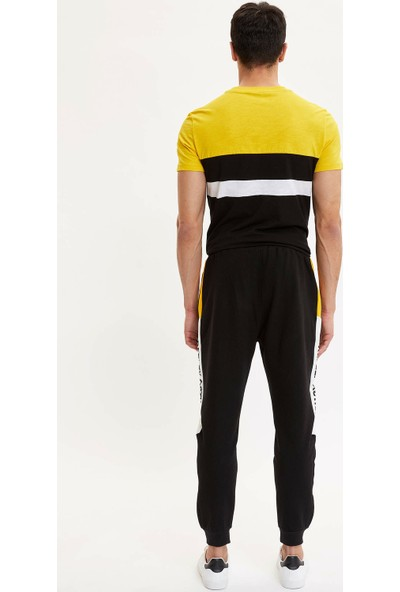DeFacto Erkek Slim Fit Renk Bloklu Eşofman Altı