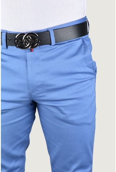 Terapi Men Erkek Keten Pantolon 9Y-2200203-013 Açık Mavi