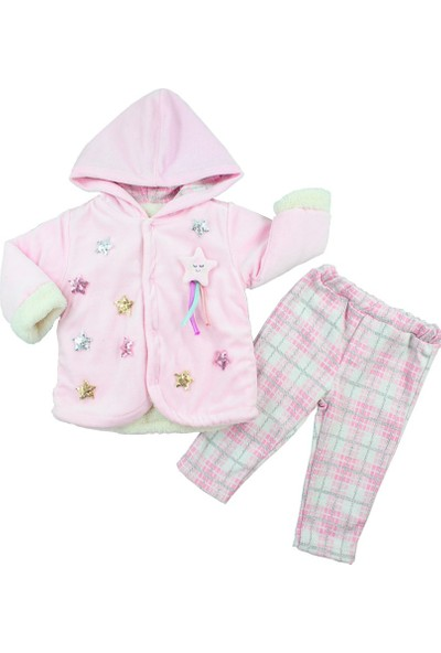 Mombi Baby Kız Bebek Montlu Takım