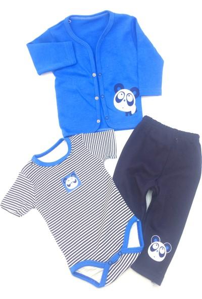 Babydoss Baby Penye Ceketli Panda 3 Lü Takım