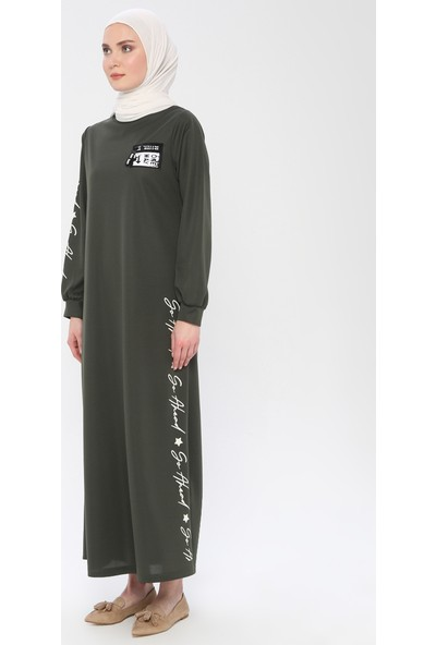 La Giza Fashion Kadın Baskılı Spor Elbise
