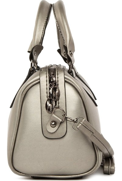 Bagmori Kadın Gümüş Fitilli Silindir Çanta