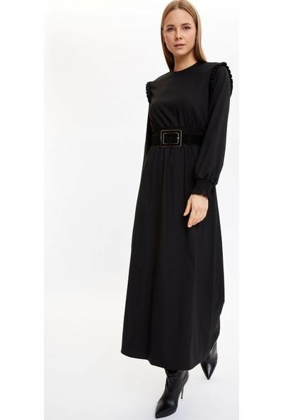 DeFacto Basic Uzun Kollu Elbise N8979AZ19CW