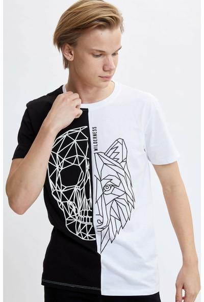 DeFacto Erkek Baskılı Regular Fit T-shirt