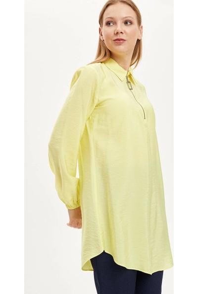 DeFacto Kadın Gömlek Yaka Düğmeli Tunik
