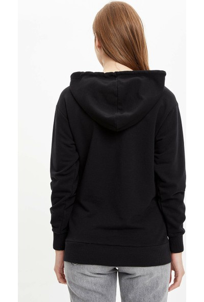 DeFacto Kapüşonlu Kanguru Cepli Basic Sweatshirt N7165AZ19WN