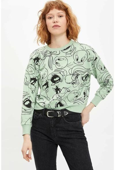 DeFacto Looney Tunes Lisanslı Sweatshirt M9436AZ20SP