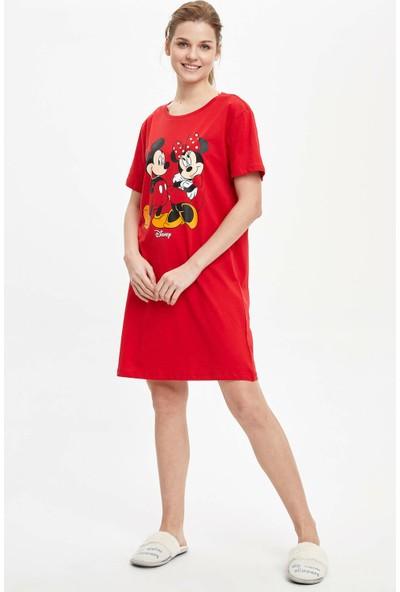 DeFacto Kadın Mickey & Minnie Mouse Lisanslı Gecelik