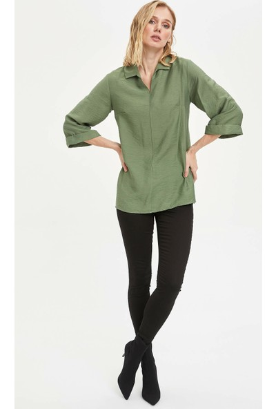 DeFacto Kadın Regular Fit Basic Dokuma Pantolon