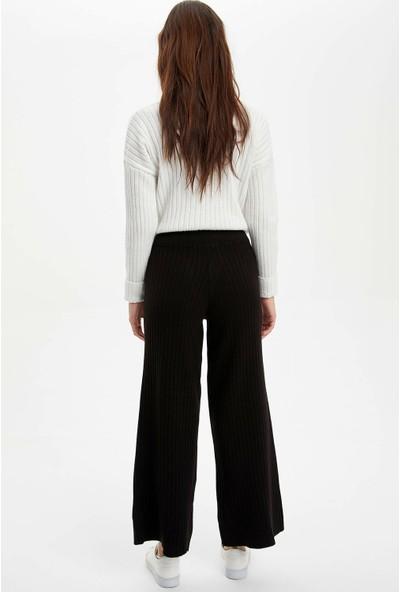 DeFacto Kadın Regular Fit Triko Pantolon