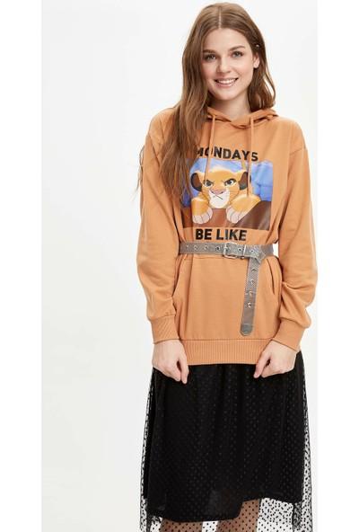 DeFacto Relax Fit Walt Disney Lisanslı Kapüşonlu Sweatshirt N0060AZ20SP