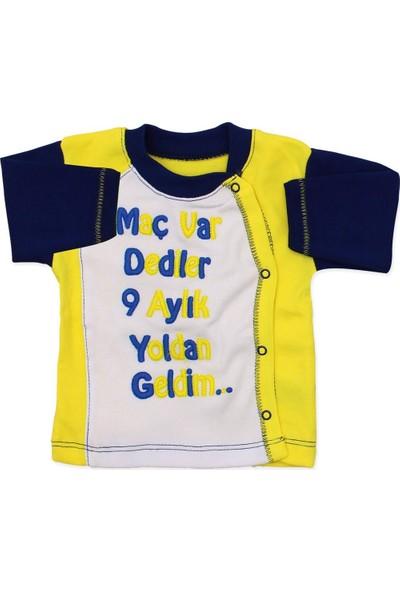 AlpCollection Fenerbahçe Hastane Çıkışı Yenidoğan Bebek 4 Parça Pamuk Zıbın Set