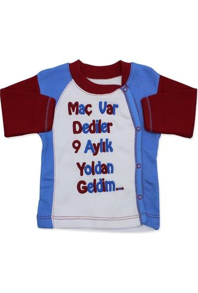 AlpCollection Trabzonspor Hastane Çıkış Yenidoğan Bebek 4 Parça Pamuk Zıbın Set