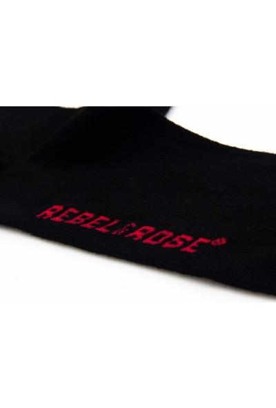 AlpCollection Yılbaşı Merry Christmas Kuru Kafa 3 Çift Siyah Renkli Çorap 40 45