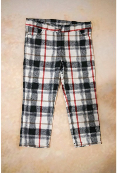 hoQuspoQusKız Çocuk Ekose Pantolon (Içten Lastik Ayarlı)