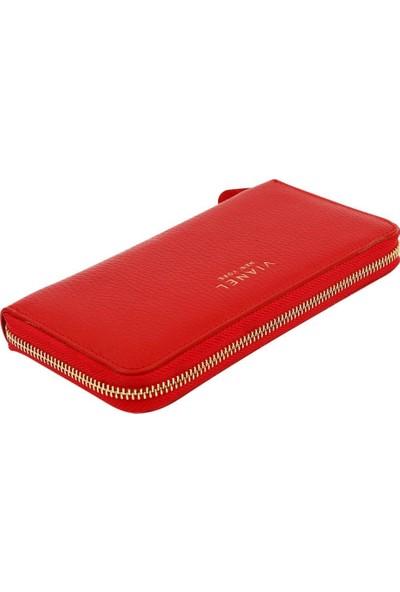 Vianel New York Eliza Deri Kadın Cüzdanı Kırmızı