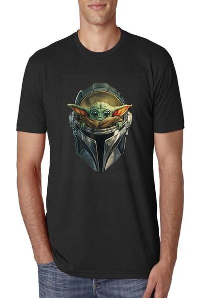 Art T-Shirt Baby Yoda Erkek T-Shirt