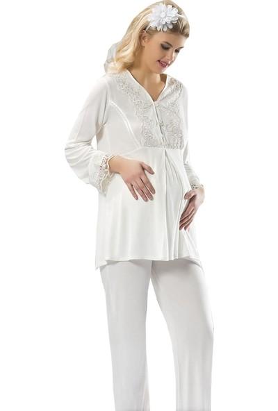 Sistina 1604 Lohusa Pijama Takımı L