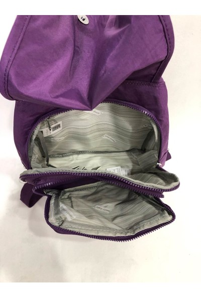 Smart Bags Kadın Sırt ve Kol Çantası Kırinkıl Kumaş Ebat 34Cm X 32Cm Mor