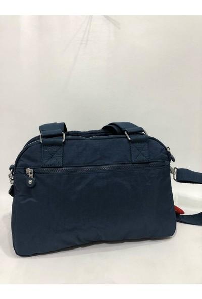 Smart Bags Kadın Kol Çantası 34Cm X 24Cm Kumaş Lacivert