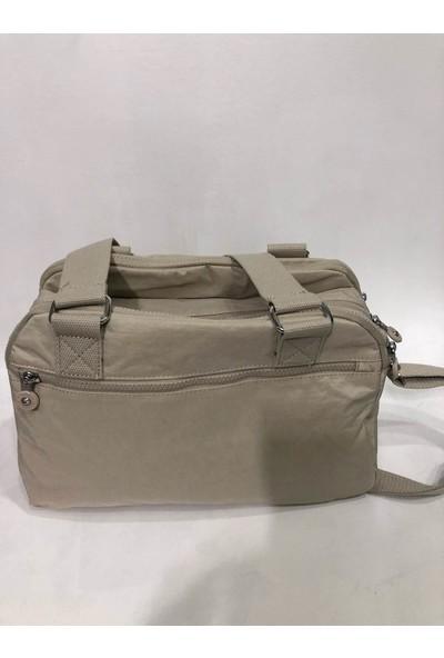 Smart Bags Kadın Kol Çantası 34Cm X 24Cm Kumaş Bej Renk