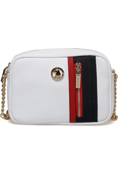 U.S. Polo Assn. Us20283 Beyaz Kadın Çapraz Çanta