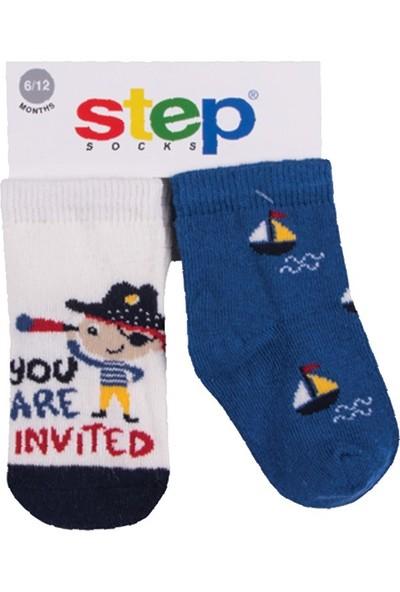 Step Korsan 2'li Soket Bebek Çorabı 10077 12 - 24 Ay