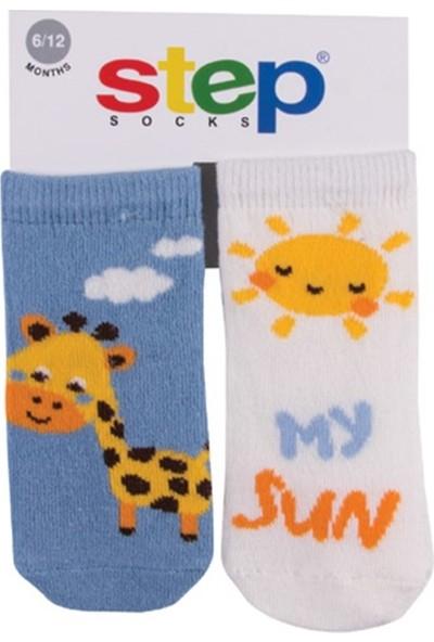Step My Sun 2'li Soket Bebek Çorabı 10074 2 - 3 Yaş