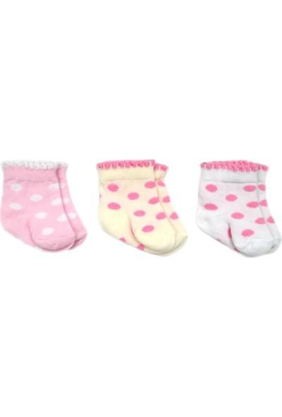 Bebengo 3'lü Soket Kız Bebek Çorabı 9518 0 - 3 Ay