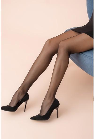 Ardanewline Kadın Siyah Fit 15 Külotlu Çorap