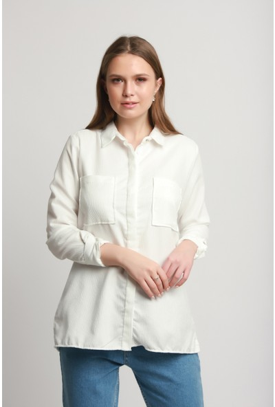Manche Kadın 16-2223 Kadife Gömlek