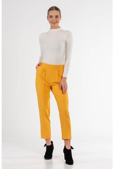 Modkofoni Belden Lastikli Sarı Bilek Pantolon