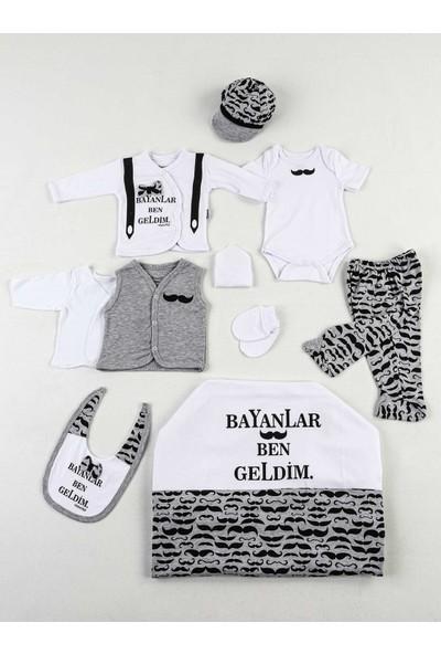 Miniworld Gri Beyaz Ben Geldim 10'lu Yenidoğan Erkek Bebek Hastane Çıkışı