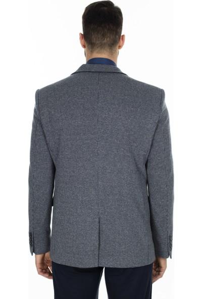 Buratti 6 Drop Tek Yırtmaçlı Klasik Yaka Erkek Ceket Fasue3799