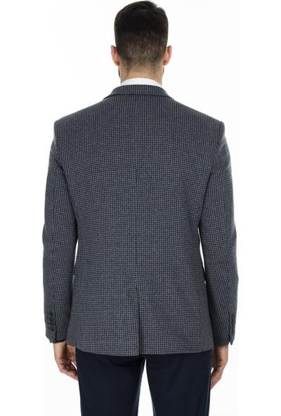 Buratti 6 Drop Tek Yırtmaçlı Klasik Yaka Erkek Ceket Hasıo3801