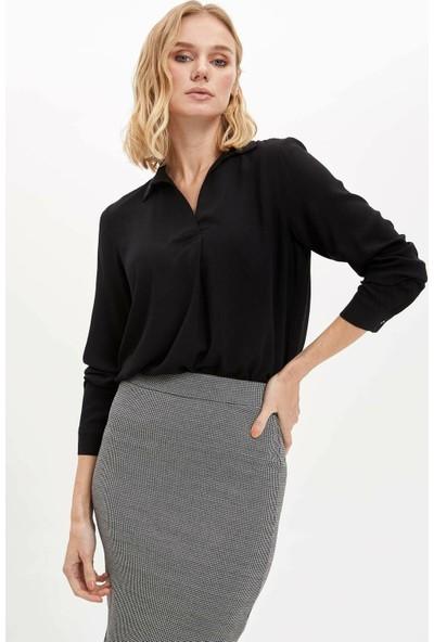 DeFacto Kadın Tensel Uzun Kollu Bluz