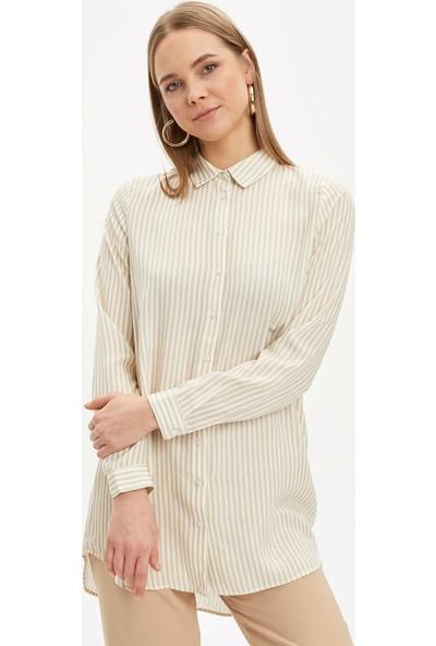 DeFacto Kadın Baskılı Gömlek Tunik