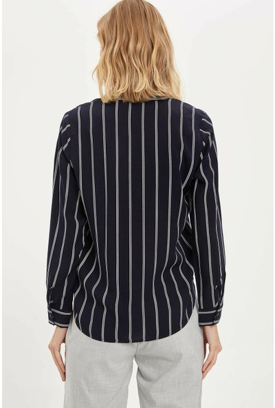 DeFacto Kadın Regular Fit Uzun Kollu Gömlek