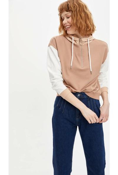 DeFacto Kadın Kapüşonlu Sweatshirt
