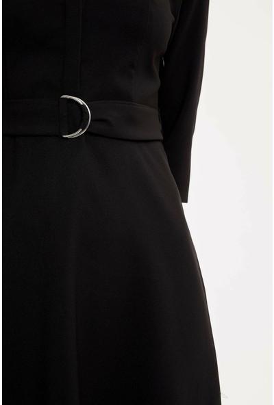 DeFacto Basic Polo Yaka Uzun Kollu Elbise N5770AZ20SP